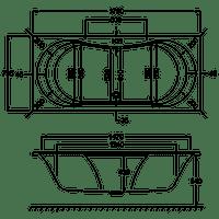 Carron 1800mm x 800mm ARC DUO Double Ended Exquisite Whirlpool Bath Flush C-Lenda Jets System